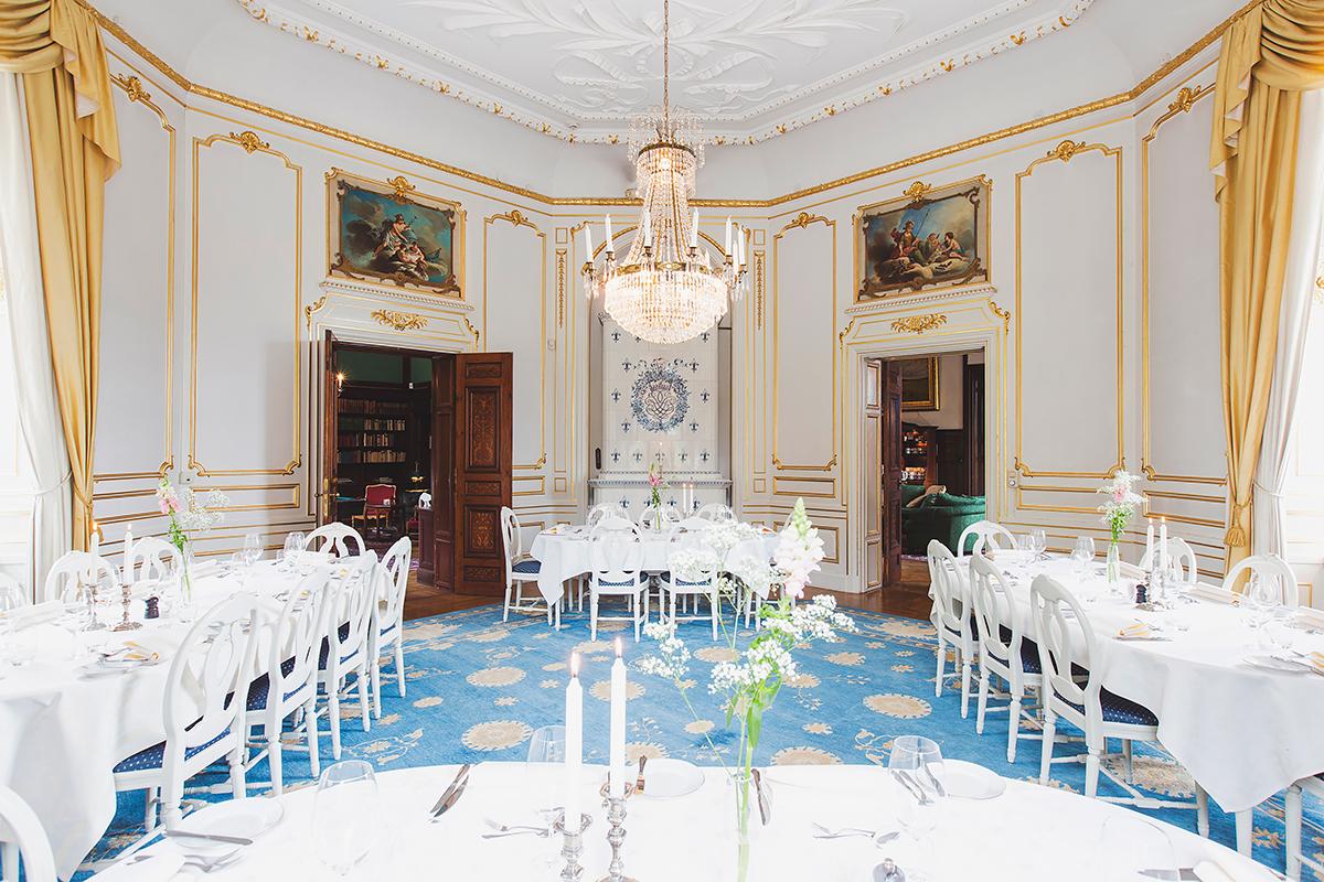 Lejondals slott dinning room blå matsalen 02